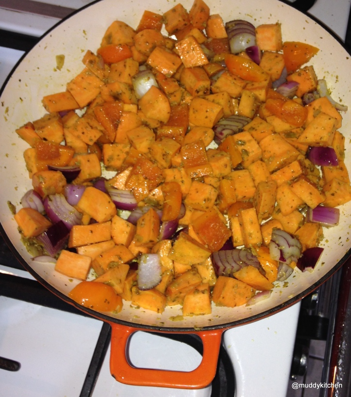 Sweet Potato, Onion and Garlic